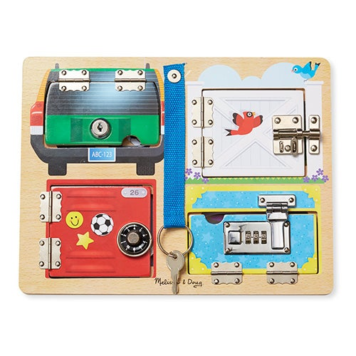 Lock & Latch Board, Ages 3-5 Years