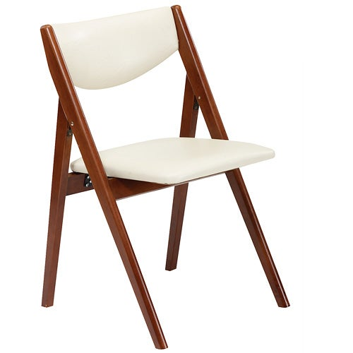 Comfort Folding Chair, Cherry/White - Set of 2