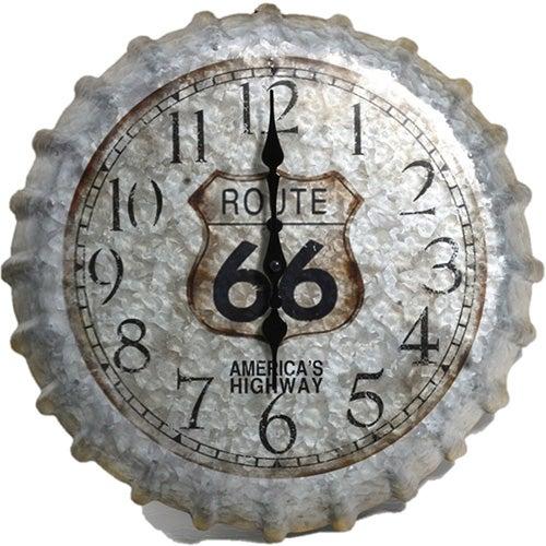 """14"""" Route 66 Bottlecap Clock"""