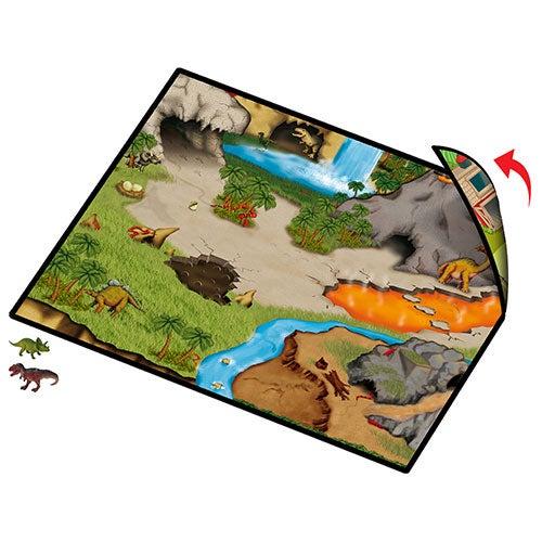 Dinosaur Prehistoric World 2-Sided Playmat w/ 2 Dinosaurs, Ages 3+ Years