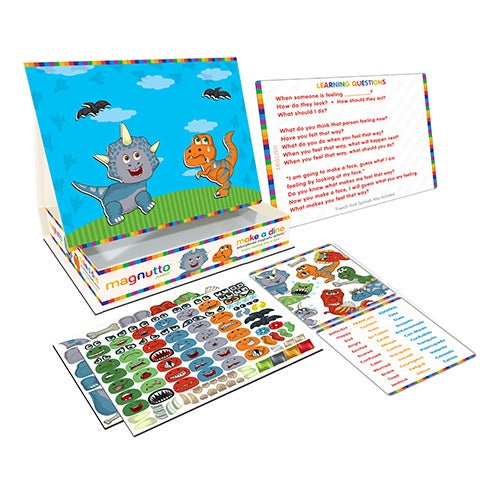 Magnutto Make a Dino Educational Magnetic Activity Set, Ages 5+ Years