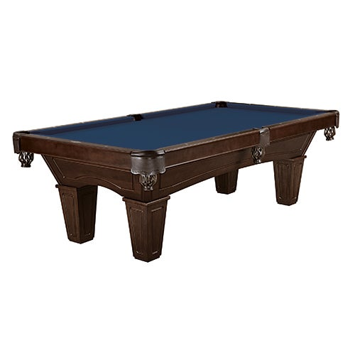 Allenton 8ft Tapered Pool Table, Espresso/Regatta Blue