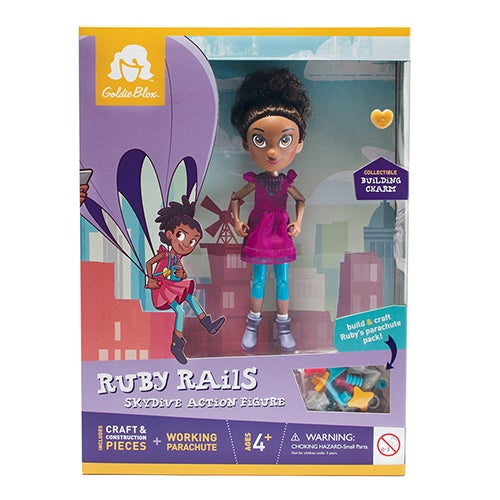 Ruby Rails Skydive Action Figure, Ages 4+ Years