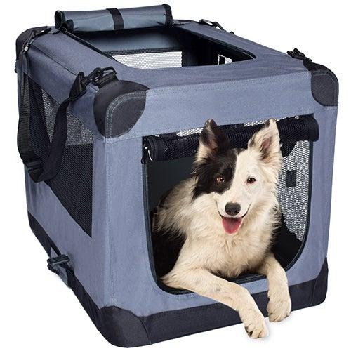 Soft Folding Pet Crate, Large