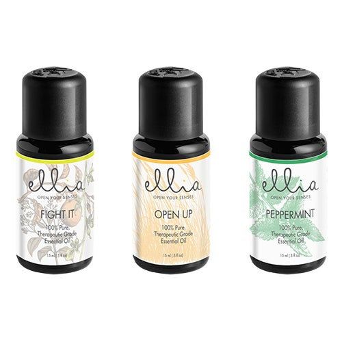 Essential Oil 3-Pack: Peppermint, Fight It and Open Up
