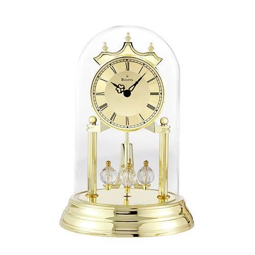 Tristan I Anniversary Clock, Brass Polish