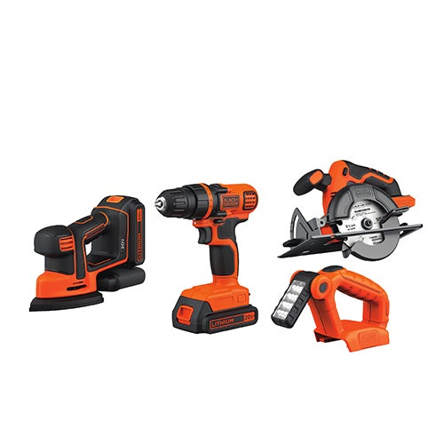 20V MAX Lithium-Ion 4-Tool Combo - Drill, Sander, Saw & Light