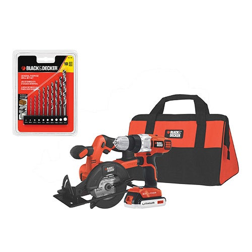 20V MAX Lithium-ion Drill/Driver & Saw Kit w/ Drill Set