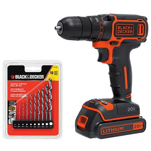 20V MAX Lithium Drill/Driver  w/ Drilling Set