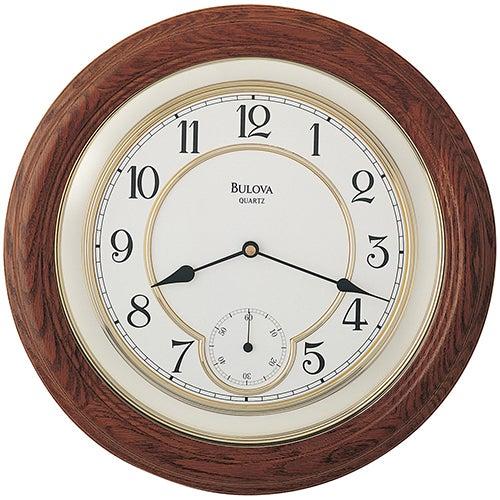 William Round Wood Wall Clock