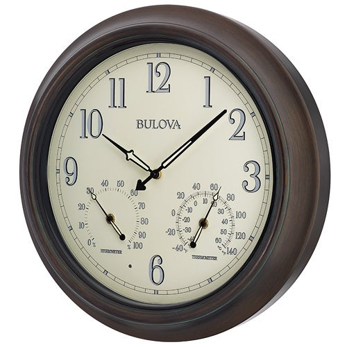 Weather Master Outdoor Wall Clock