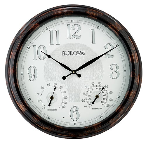 Weather-Mate Indoor & Outdoor Wall Clock with Thermometer