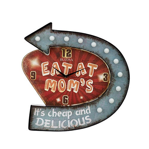 Moms Place Retro Lighted Wall Clock