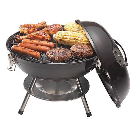 """14"""" Charcoal Grill, Black"""