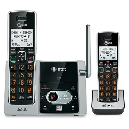 2 Handset Answering System w/ Caller ID & Call Waiting