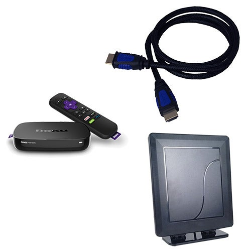 Roku Premiere Cord Cutting Kit w/ Indoor Antenna & HDMI Cable