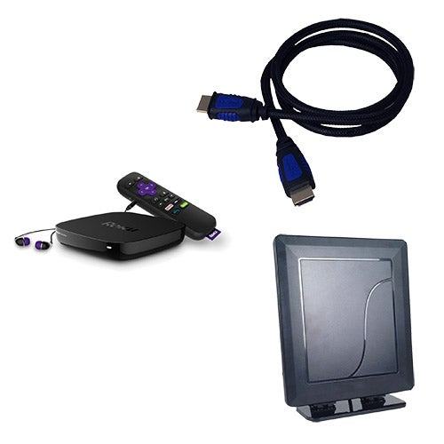 Roku Premier+ Cord Cutting Kit w/ Indoor Antenna & HDMI Cable