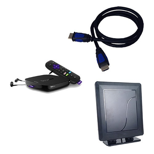 Roku Ultra Cord Cutting Kit W Indoor Antenna Hdmi Cable Power