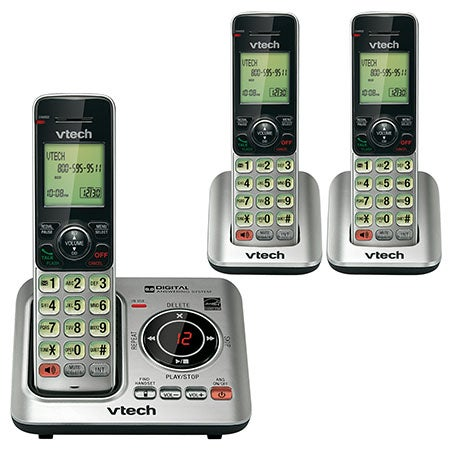 DECT 6.0 Cordless Answering System w/3 Handsets