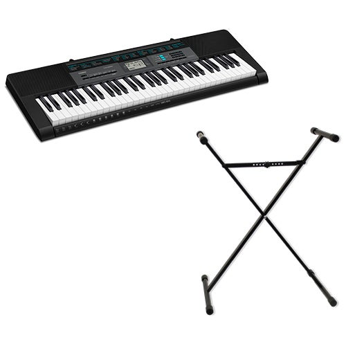 61-Key Dance Mode Keyboard w/ Keyboard Stand