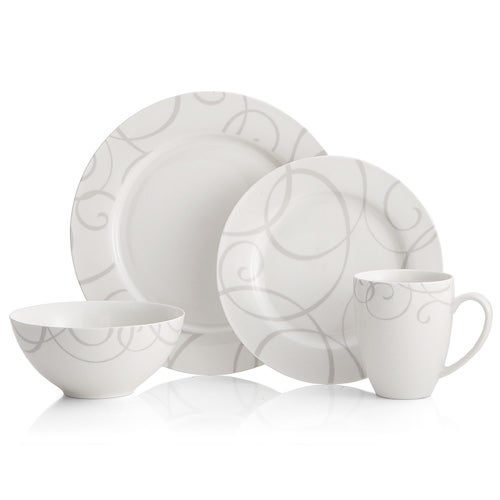 Symphony Grey 16 Piece Dinnerware Set