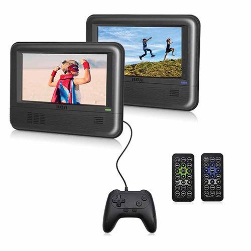Twin Mobile DVD Players w/ Gamepad