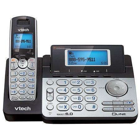 DECT 6.0 2-Line Expandable Cordless Phone, 1 Handset