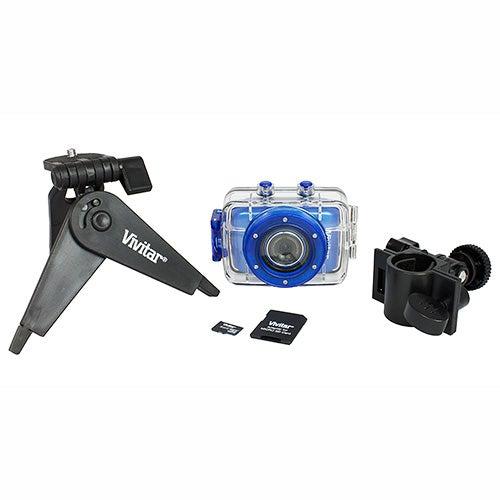 5.1 Mega Pixel Sports Action Digital Video Camera Kit, Blue
