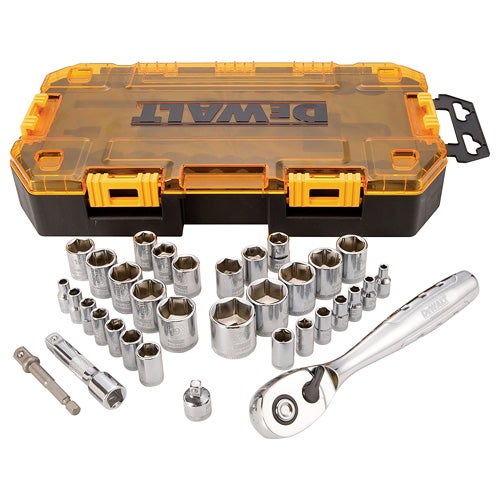"""34-Piece 1/4"""" and 3/8"""" Drive Socket Set"""