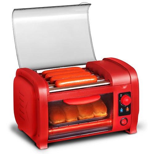Cuisine Hot Dog Roller/Toaster Oven, Red