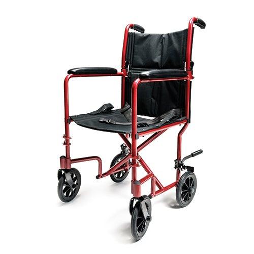 "Aluminum 19"" Transport Chair, Red"