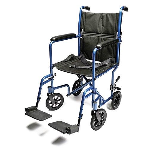 "Aluminum 19"" Transport Chair, Blue"