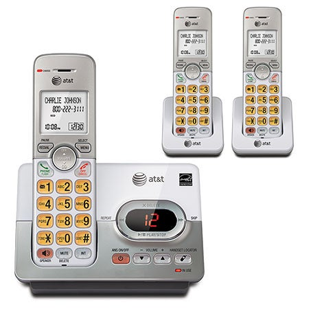 Cordless Answering System w/Caller ID & 3 Handsets