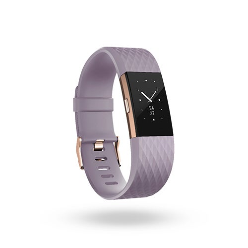 Charge 2 Special Edition HR + Fitness Wristband, Lavendar/Rose Gold - Large
