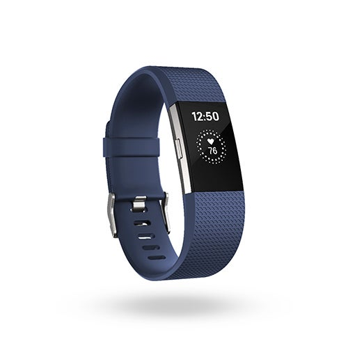 Charge 2 Heart Rate + Fitness Wristband, Blue/Silver - Small