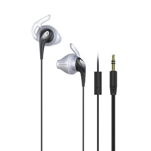 FitActive Run Hi-Fi Stereo Earphones w/ Mic/Remote, Black