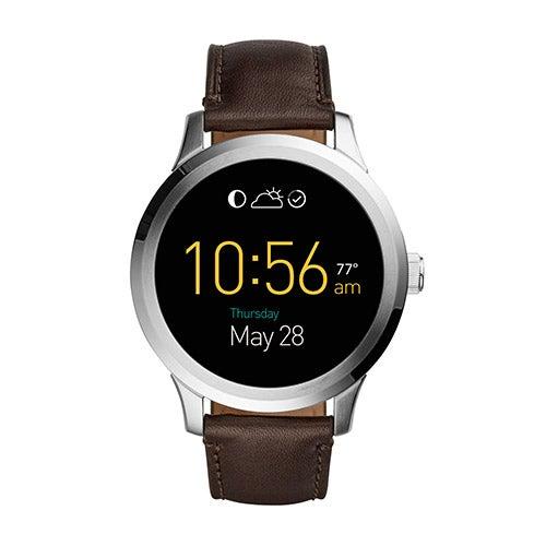Mens Q Founder Touchscreen Brown Strap Smartwatch