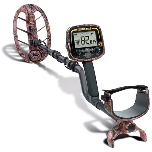 """G2+ Metal Detector w/ 11"""" DD Coil, Pink Camo"""