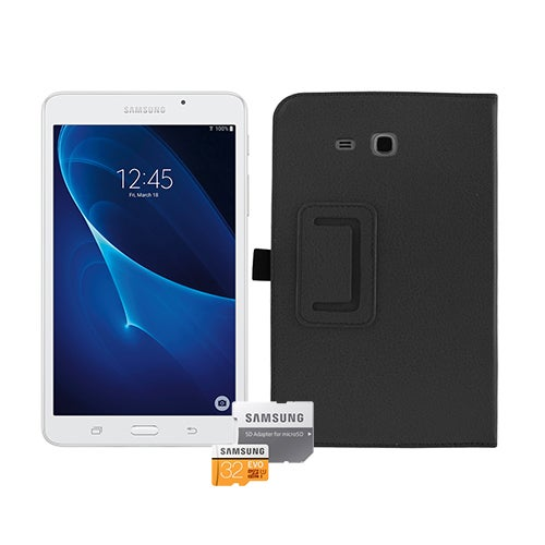 "7"" Galaxy Tab A 7.0 White w/ Cover and 32GB Micro SD"