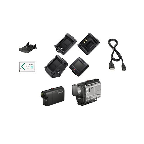 Full HD Action Cam w/ Live View Remote Bundle
