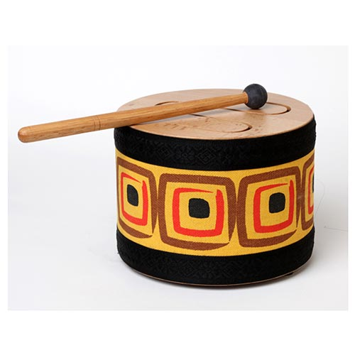 "8"" Wooden Tone Drum with Mallet"