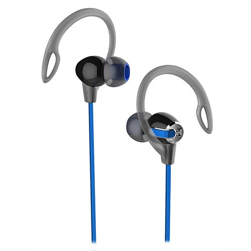 Water Resistant 2-in-1 Sport Earbuds, Blue