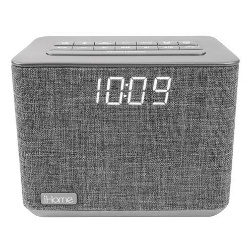 Bluetooth Dual Alarm FM Clock Radio w/ USB Charging
