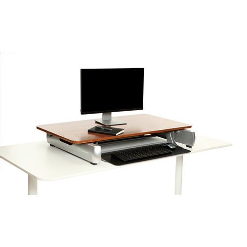 Elevate Desktop DT2, Dark Wood