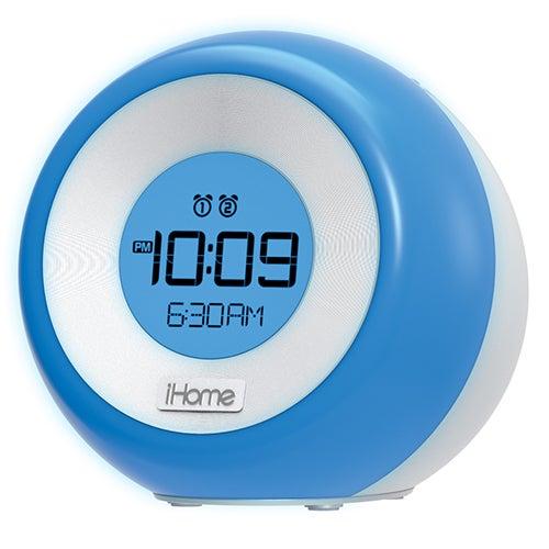 Color Changing Dual Alarm FM Clock Radio w/ USB Charging