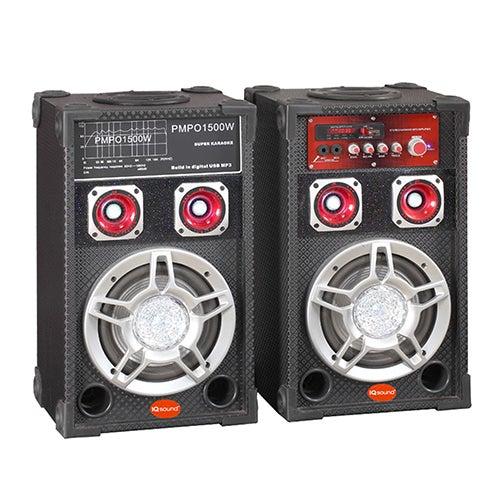 "Pair of 6"" Professional Bluetooth Speakers"