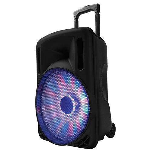 "12"" Portable Bluetooth DJ Speaker, Black"