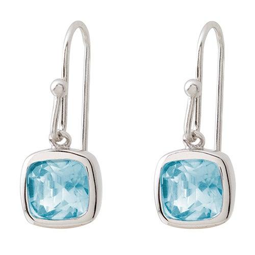 Blue Topaz Earrings w/ French Wires