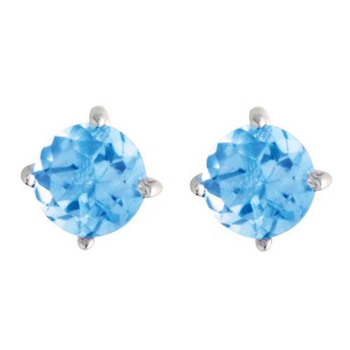 5mm Blue Topaz Earrings