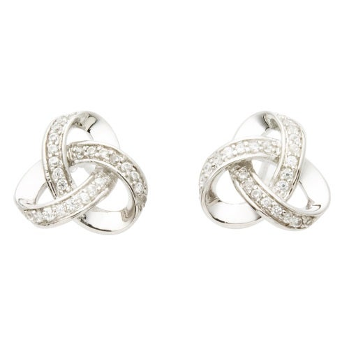 knot love silver products earrings inch large diameter sterling